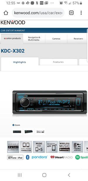 Kenwood kdc x302 for Sale in Mesa, AZ
