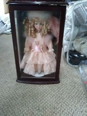Antique handmade doll in case for Sale in Monroe Township, NJ