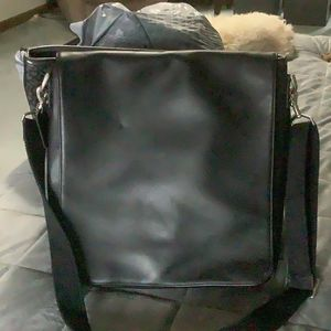 Coach Black Leather Messenger Bag for Sale in Perry, OH