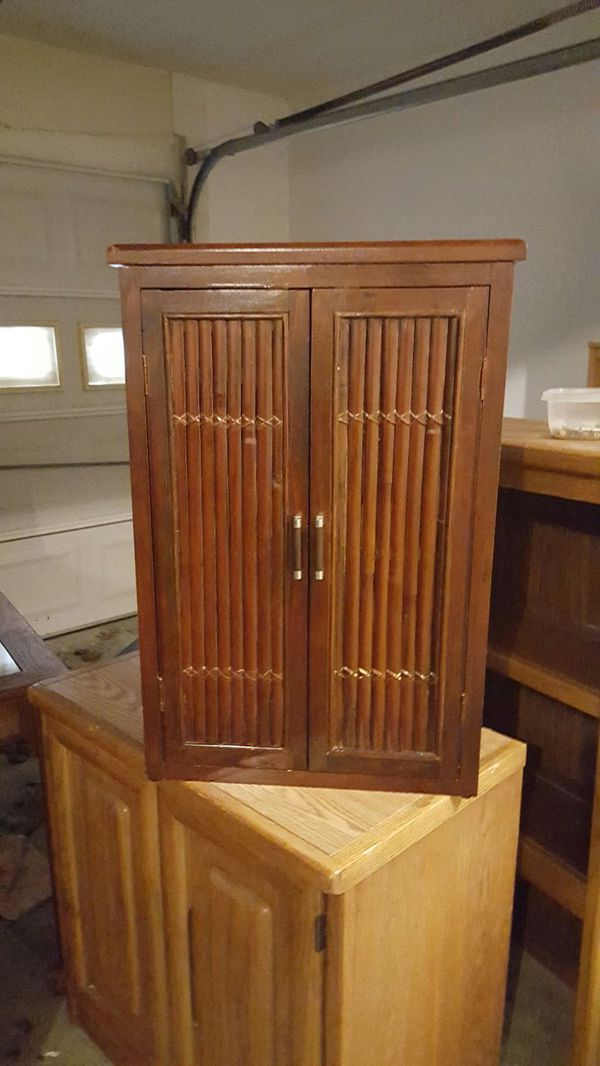 Small Bamboo Cabinet With Shelves For Sale In Acworth Ga