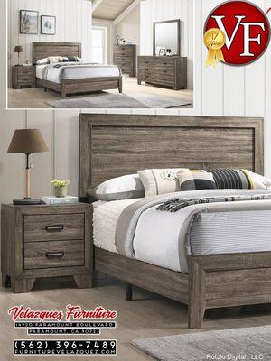 *TEMPORARY PRICE* 4PCS QUEEN BEDROOM SET BED+DRESSER+MIRROR+NIGHTSTAND $428 for Sale in Anaheim, CA