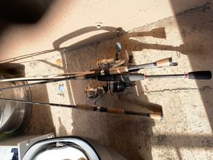 3 fishing reels and rods for $100 for Sale in Houston, TX