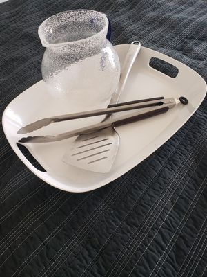 Grill tools, plastic tray and pitcher for Sale in Chicago, IL