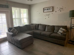 Sectional couch. Reversible for Sale in Pinellas Park, FL