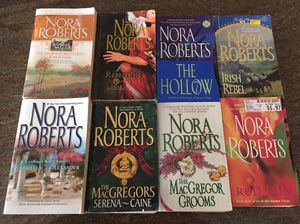 Nora Roberts 8 book lot paperback WSR benefits charity for Sale in Pahrump, NV