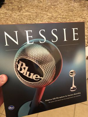 Blue Nessie condenser mic-adaptive usb for Sale in Austin, TX