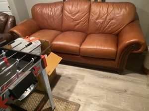 Leather sofa LIKE NEW for Sale in Oakdale, PA