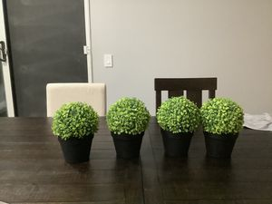 Green topiary plants (fake) for Sale in Rancho Cucamonga, CA