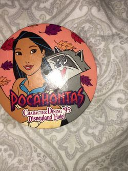"""Pocahontas Character Dinning Disneyland Hotel 3"""" Pin for Sale in Bakersfield,  CA"""