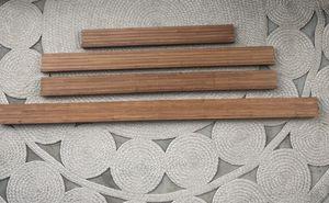 Vintage Bamboo Veneer Wall Mount Shelves Set 4 for Sale in Playa del Rey, CA