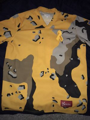 Supreme yellow camo hockey jersey for Sale in Annandale, VA