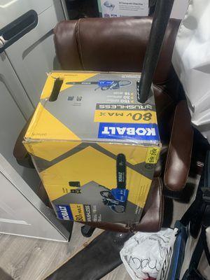 Kobalt 80v max chainsaw brand new for Sale in West Jordan, UT