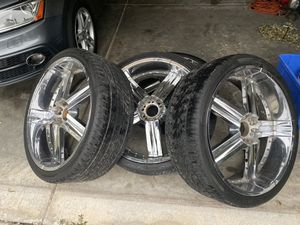 26 inch rims and tires edge hype for Sale in Jacksonville, FL