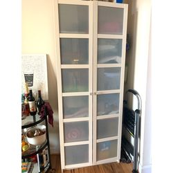 IKEA Cabinet w/ Updated Glass Knobs for Sale in Washington,  DC