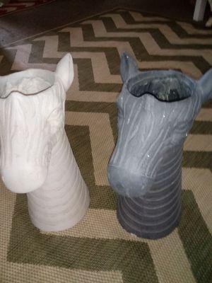 Awesome designers Zebra head Flower pots made of resin for Sale in Stockbridge, GA
