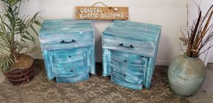 Coastal Beachy Chic Night Stands for Sale in Pasadena, CA