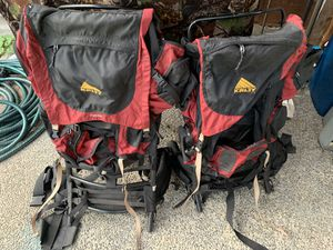 Kelty Frame packs. $15 for two. One red/black pack and one blue pack left. for Sale in Renton, WA