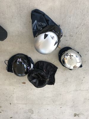 4 motorbike helmets barely used for Sale in Westwego, LA