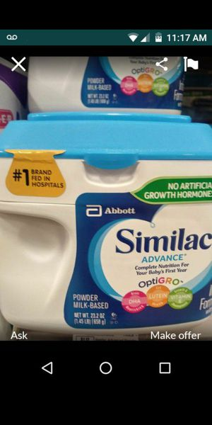Brand new .never opened.baby Similac advance big cans for Sale in San Antonio, TX