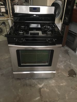 Stove gas brand whirlpool everything is good working condition 90 days warranty delivery and installation for Sale in San Leandro, CA