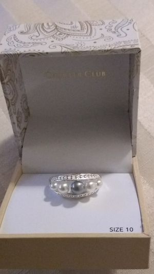 Macy's Faux Pearl Ring in White, Gray for Sale in Allen Park, MI
