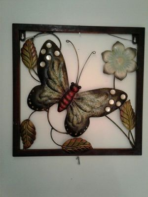Metal wall decor - butterfly for Sale in Palo Alto, CA