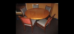 Round table with 5 wood chairs for Sale in Downey, CA