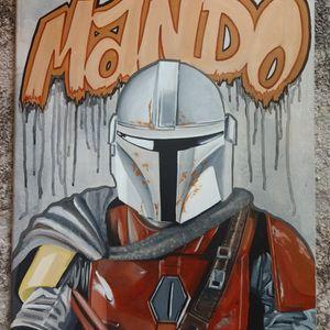 The Mandalorian, Star Wars,Mandalorian,Mando,Art,Painting,Acrylics,Custom,Hand Painted,Original Art for Sale in San Diego, CA
