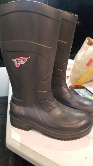 Steel toe red wings rain work boots for Sale in San Jose, CA
