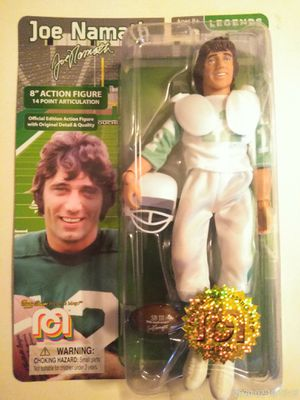 "COLLECTIBLE 2018 LIMITED EDITION MEGO LEGENDS JOE NAMATH 8"" ACTION FIGURE . for Sale in El Mirage, AZ"