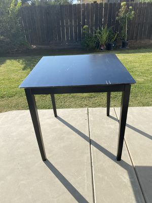 Table- Tall Black Pub Table Only for Sale in Clovis, CA