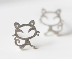 925 silver kittens stud earrings for Sale in Rowland Heights, CA