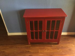 Glass and wood cabinet for Sale in Cedar Hill, TX