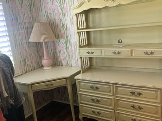 White French Provincial Bedroom Furniture Dresser Nightstand Desk for Sale in Los Angeles,  CA