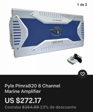 Pyle Plmra820 8 Channel Marine Amplifier for Sale in Concord, NC