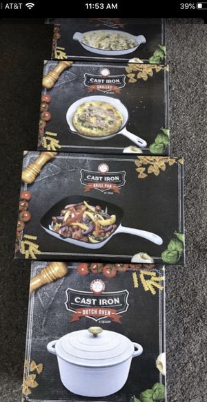Cast Iron Pots and Pans Bran New, Qty 4 for Sale in Oswego, IL