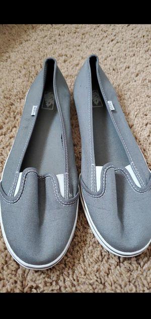Brand new gray VANS women's size 10.5 low top for Sale in Garden Grove, CA
