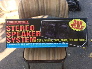 Brand new in box stereo speakers for car never been used or even out of the box. for Sale in Glendale, AZ