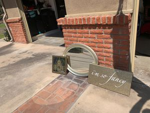 Fun Mirrors and Sign Wall Set for Sale in Poway, CA