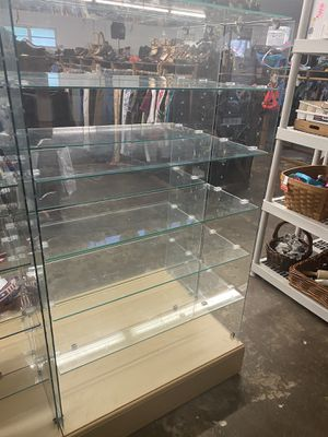 Glass Shelves with 12 Shelves for Sale in Gibsonton, FL