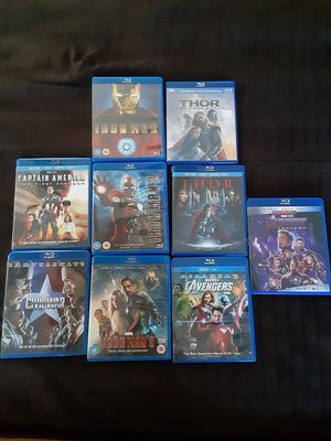 Marvel movies blue ray for Sale in Mesquite, TX