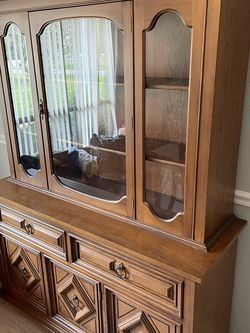 Antique China Cabinet + Dining Room Table for Sale in Zephyrhills,  FL