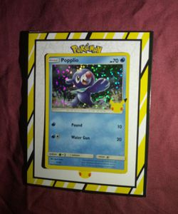 "Pokemon 25th Anniversary "" Popplio (Holographic) "" McDonald's Exclusive Promo Card for Sale in Los Angeles,  CA"