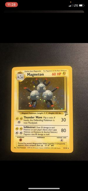 Pokemon card Base 2 Rare Holographic Magneton for Sale in Allentown, PA