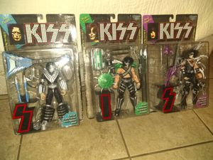 COLLECTABLES!!! ALL 3 KISS ACTION FIGURES NEW FOR ONLY $35.00 for Sale in Phoenix, AZ