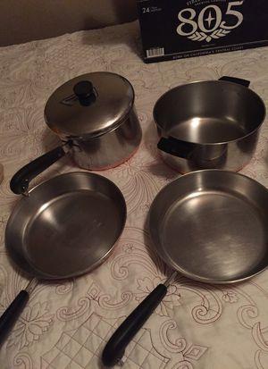 Copper pots 5 pieces for Sale in Phoenix, AZ
