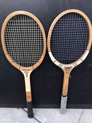 Vintage tennis rackets. Wilson professional champ and Dunlop fort for Sale in Modesto, CA