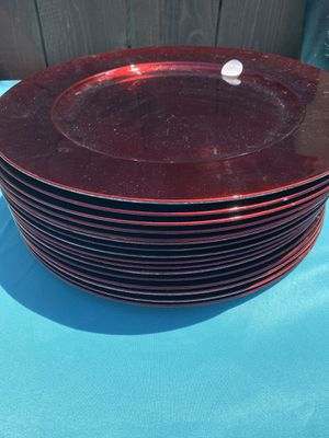 Red Charger Plates for Sale in Arroyo Grande, CA