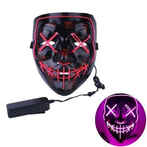 Halloween LED Glow Mask 3 Modes EL Wire Light Up The Purge Movie Costume Party for Sale in Laguna Niguel, CA