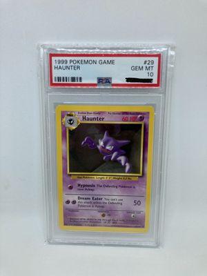1999 Pokemon Base Set Haunter PSA 10 Gem Mint Rare for Sale in Chino Hills, CA